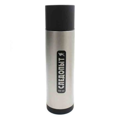 Stainless thermos 750 ml, article 00159600002, production Следопыт (Россия)