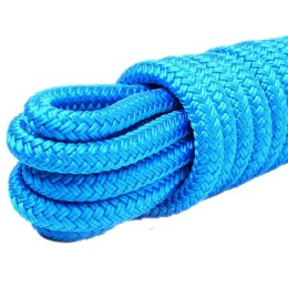 Braided mooring cord, blue 10.0 mm, 1200 kg, 9 m