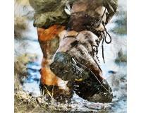 Footwear for fishing off-season
