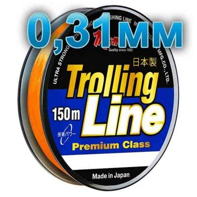 Fishing line Trolling Line Orange; 0.31 mm; 9.5 kg test; length 150 m, from: Momoi Fishing (Япония)