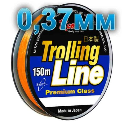 Fishing line Trolling Line Orange; 0.37 mm; 13 kg test; length 150 m, from: Momoi Fishing (Япония)