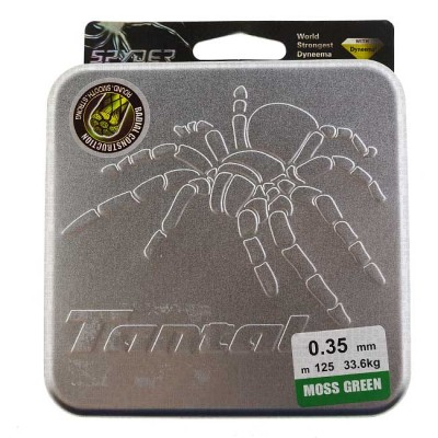 Braided cord Tantal Spyder gray; 0.10 mm; test 8.0 kg; length 125 m, from: Spider (Китай)