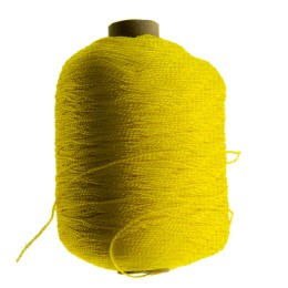 The thread is polyester thermo-light-stabilized extra strong; yellow, 1.2 mm, length 1600 m