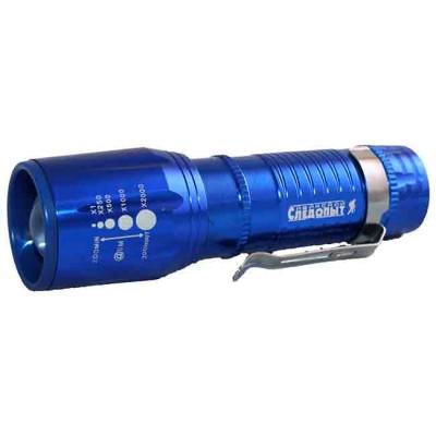 "Flashlight ""Sibirskiy Sledopyt-Vega"" with clamp, zoom, 1 L, from: Следопыт (Россия)"