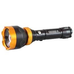 "Flashlight ""Sibirskiy Sledopyt-Profi"", 1L, zoom, akkum. 220V+12V, 3xAAA (500 LM)"
