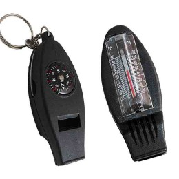 "Compass, thermometer and whistle ""Sledopyt"" with carabiner"