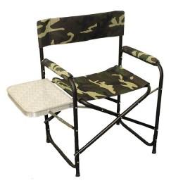 """Кресло складное """"Следопыт"""" 585х450х825 мм, со столиком, сталь"""