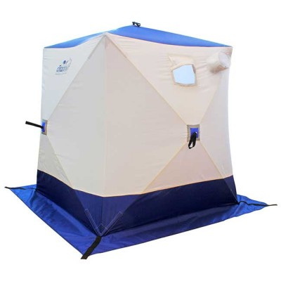 Палатка зимняя куб Следопыт 1,5 х 1,5 х 1,7 м, 2-местная, цв. бело-синяя, from: Следопыт (Россия)