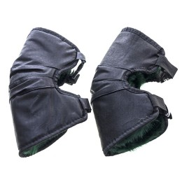Knee pads for winter fishing, art. leather, fur