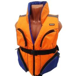 Francardi life jacket two-tone with pockets, load capacity 110 kg, size 50-52