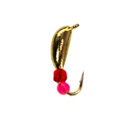 Jig tungsten Banana, gold (diameter 2.0 mm) non-shrink, with beads