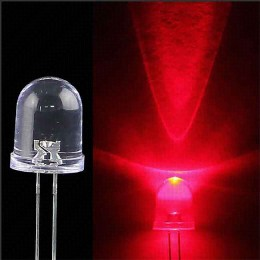 Led for fishing torpedo 5mm, red light, super bright 20000mcd LED