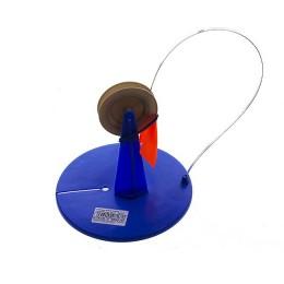 Жерлицы зимние в сумке, неоснащенные, 10 шт (Dосн=180мм синее, Dкат=70мм разноцв, стойка прямая)