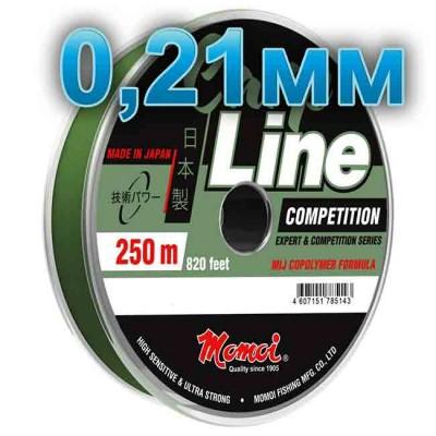 Fishing line CARP LINE; 0.21 mm; test 4.7 kg; length 250 m, article Z0000004937, production Momoi Fishing (Япония)