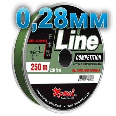 Fishing line CARP LINE; 0.28 mm; test 8.0 kg; length 250 m, article Z0000004940, production Momoi Fishing (Япония)