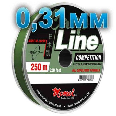 Fishing line CARP LINE; 0.31 mm; 9.5 kg test; length 250 m, article Z0000004941, production Momoi Fishing (Япония)