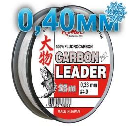 Fluoro Carbon Leader; 0.40 mm; 14.0 kg test; length 25 m