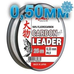 Fluoro Carbon Leader; 0.50 mm; test 20.0 kg; length 25 m