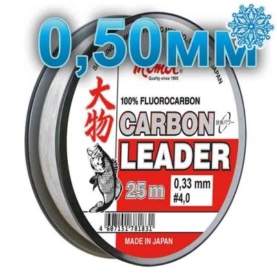 Fluoro Carbon Leader; 0.50 mm; test 20.0 kg; length 25 m, from: Momoi Fishing (Япония)