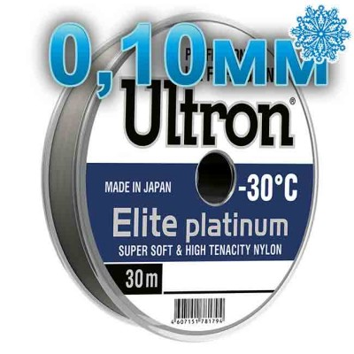 Scaffold winter Ultron Elite Platinum; 0.10 mm; 1.3 kg test; length 30 m, from: Momoi Fishing (Япония)