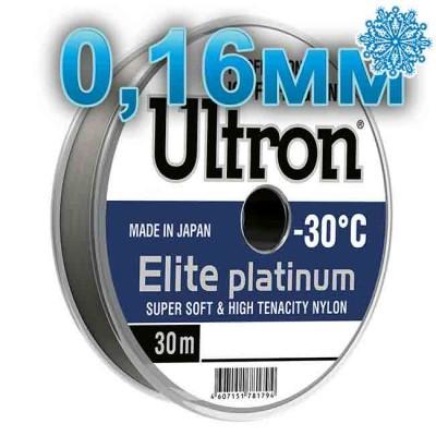 Scaffold winter Ultron Elite Platinum; 0.16 mm; test 3.1 kg; length 30 m, article Z0000005008, production Momoi Fishing (Япония)
