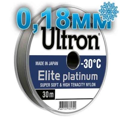 Scaffold winter Ultron Elite Platinum; 0.18 mm; 4.0 kg test; length 30 m, from: Momoi Fishing (Япония)