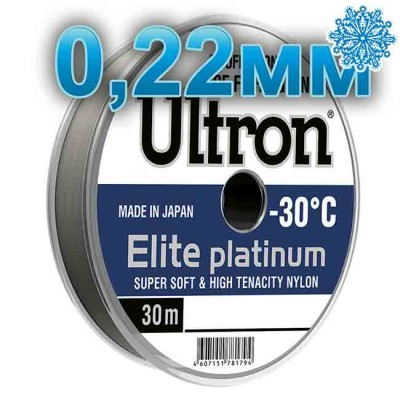 Scaffold winter Ultron Elite Platinum; 0.22 mm; 5.5 kg test; length 30 m, from: Momoi Fishing (Япония)
