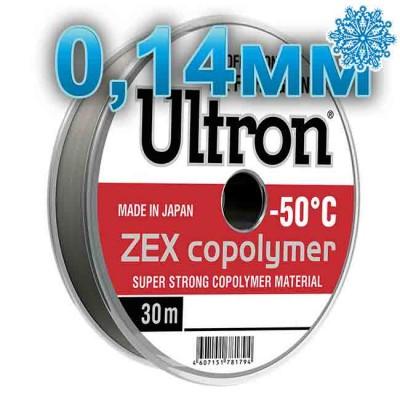 Winter fishing line Ultron ZEX Copolymer; 0.14 mm; 2.5 kg test; length 30 m, from: Momoi Fishing (Япония)