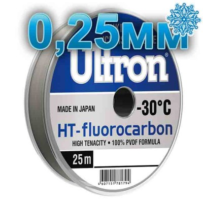 Fluorocarbon Ultron HT-Fluorocarbon; 0.25 mm; 5.5 kg test; length 25 m, article Z0000005079, production Momoi Fishing (Япония)