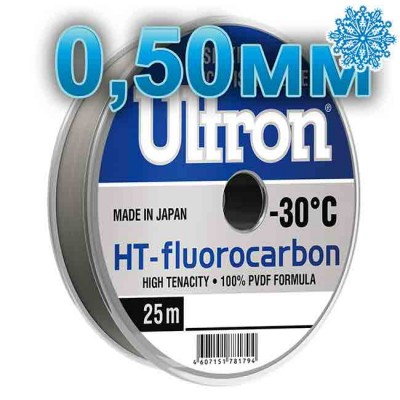 Fluorocarbon Ultron HT-Fluorocarbon; 0.50 mm; 17.5 kg test; length 25 m, from: Momoi Fishing (Япония)