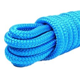 Braided mooring cord, blue 14.0 mm, 2400 kg, 9 m
