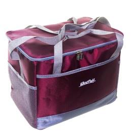 Bagwarm cooler bag 36x24x28 burgundy, walks in nature and travel