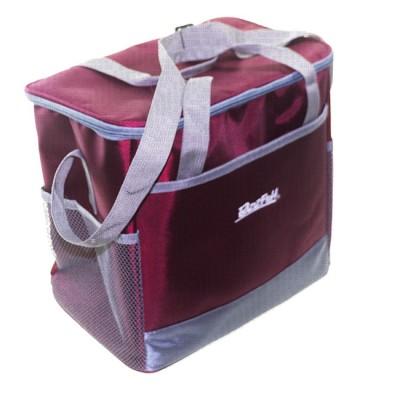 Bagwarm cooler bag 30x20x28 burgundy, walks in nature and travel, from: NoBrend (Китай)