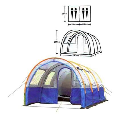 Tent tourist spot 4, no. XFY-1801, from: Bazizfish (Китай)