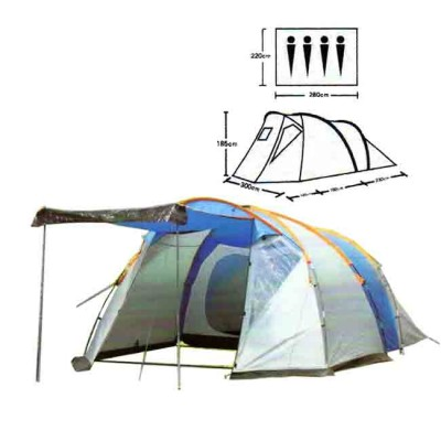 Tent tourist spot 4, no. XFY-1802, article Z0000005525, production Bazizfish (Китай)