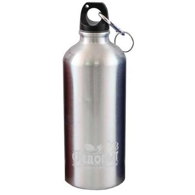 """Бутылка питьевая """"СЛЕДОПЫТ"""", алюм., с карабином, 600 мл, from: NoBrend (Китай)"""