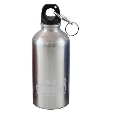 """Бутылка питьевая """"СЛЕДОПЫТ"""", алюм., с карабином, 400 мл, from: NoBrend (Китай)"""