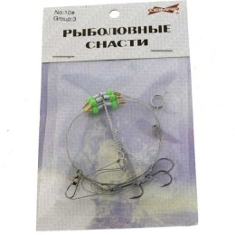 """Installation garland """"Fishing tackle"""" Ceimar # 10, three branches with a hook"""