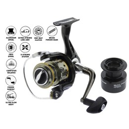 Spinning reel CORMORAN 2Aif 1000, 2 bearings, front clutch (with spare spool)