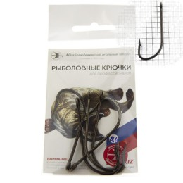 One-bending salmon hooks with a ring, No. 18,6 forged. (D wire 1.8 mm, length 50 mm) (pack 5 pcs)