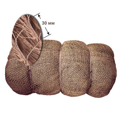 30 mm, h = 250 ball, del Astrakhan 93.5 * 3 kapron 0.8 mm brown (pack 15 kg), from: NoBrend Китай