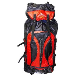 Fisherman and tourist backpack, 80 L, red