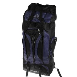 Fisherman and tourist backpack, 90 L, black-blue