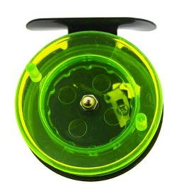 Reel for winter fishing rods green prozr.  (metal, diameter 65mm)