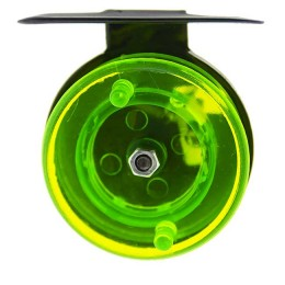 Reel for winter fishing rods green prozr.  (metal, diameter 50mm)