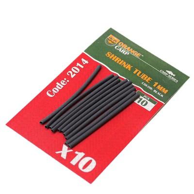Heat shrink tubing (black), 1 mm, length-50mm, 10pcs (art. 2014), from: Prontex