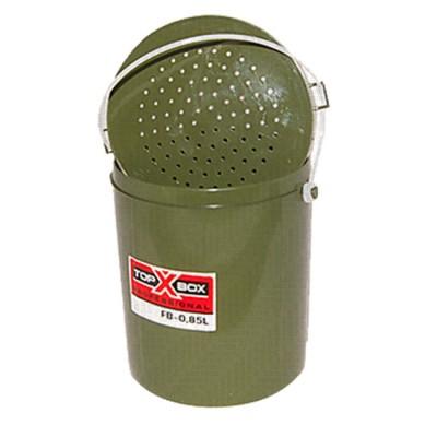 Bait bucket TOP BOX FB-0,85L, olive (pack of 100 pcs), from: Пронтекс (Россия)