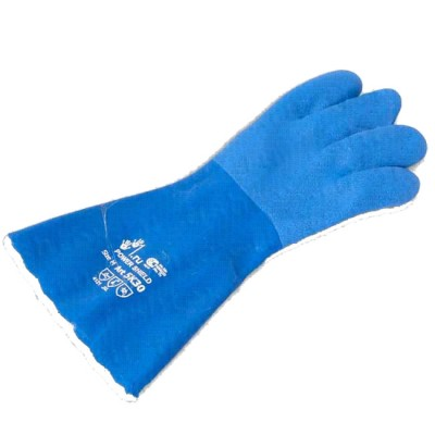Gloves PVC Shield 5k-30, blue, 300 mm, size L (knitted base, textured coating), from: Prontex