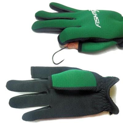 FISHTEX gloves, neoprene, for spearfishing, green, p L, from: NoBrend (Китай)