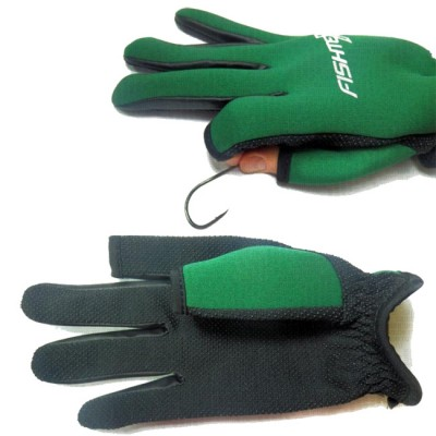 FISHTEX gloves, neoprene, for spearfishing, green, p XL, from: Пронтекс (Россия)